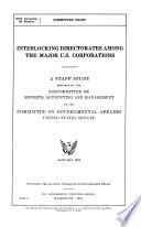 Interlocking Directorates Among the Major U S  Corporations