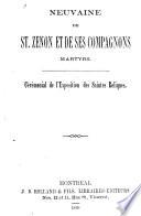 Neuvaine de St. Zénon et de ses compagnons martyrs : cérémonial de l'exposition des saintes reliques