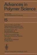 Advances in Polymer Science   Fortschritte der Hochpolymeren Forschung