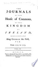 Journals of the House of Commons of the Kingdom of Ireland Book PDF