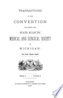 Transactions of the State Eclectic Medical and Surgical Society of Michigan     Book