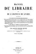 Manuel du libraire et de l'amateur de livres v. 5