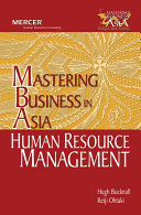 Human Resource Management In Mastering Business In Asia Series