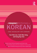 A Frequency Dictionary of Korean