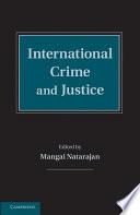 International Crime And Justice PDF