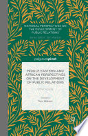 Middle Eastern And African Perspectives On The Development Of Public Relations