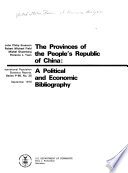 The Provinces of the People s Republic of China Book