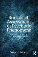 Pdf Rorschach Assessment of Psychotic Phenomena Telecharger