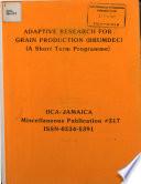 Claude Grand Pierre Grain Production Specialist Iica Jamaica