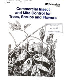 Commercial Insect and Mite Control for Trees  Shrubs and Flowers Book