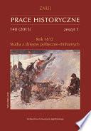 Prace Historyczne 2013, Numer 140 (1)