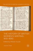 The History of British Women's Writing, 1610-1690