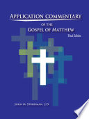 Application Commentary Of The Gospel Of Matthew Book PDF