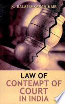 Law of Contempt of Court in India Book