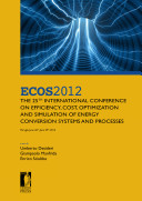 ECOS 2012 The 25th International Conference on Efficiency, Cost, Optimization and Simulation of Energy Conversion Systems and Processes (Perugia, June 26th-June 29th, 2012)