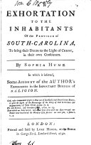 An exhortation to the inhabitants of the province of South-Carolina
