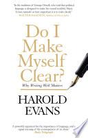 Do I Make Myself Clear  Book