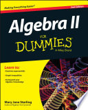 Cover of Algebra II For Dummies
