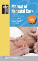 Pdf Manual of Neonatal Care