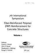 Fiber reinforced Polymer  FRP  Reinforcement for Concrete Structures