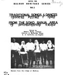 Traditional Songs   Dances from the Soko Baja Area Book
