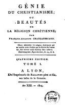 Génie du christianisme, ou Beautés de la religion chrétienne