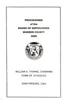 Proceedings of the Board of Supervisors of Warren County  New York