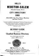Walsh s Winston Salem  North Carolina  City Directory
