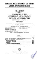 Agriculture, Rural Development, and Related Agencies Appropriations for 1980: Animal and plant health inspection svc. 1979