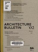 Architecture Bulletin 02 Book
