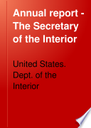 Annual Report   The Secretary of the Interior