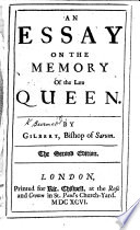 An Essay on the Memory of the Late Queen