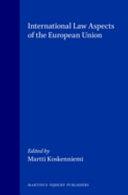 International Law Aspects of the European Union