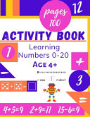 Learning Numbers 0 20 Age 4  Activity Book Book