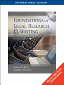 Foundations Of Legal Research And Writing International Edition