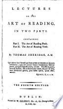Lectures on the art of reading ... The fourth edition