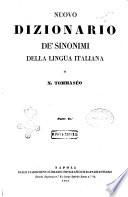 Nuovo dizionario de' sinonimi della lingua italiana di Niccolo Tommaseo