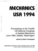 Proceedings Of The U S National Congress Of Applied Mechanics Book PDF