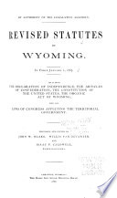 Revised Statutes of Wyoming  in Force January 1  1887 Book PDF