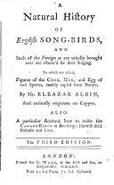A Natural History of English Song-birds