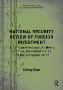 National Security Review of Foreign Investment Pdf/ePub eBook