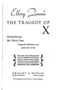 Ellery Queen s The Tragedy of X Book