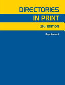 Directories in Print 29 V3 Supplement