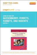 Ferrets  Rabbits and Rodents Pageburst on Kno Retail Access Code