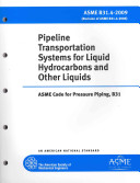 Pipeline Transportation Systems for Liquid Hydrocarbons and Other Liquids