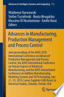 Advances in Manufacturing, Production Management and Process Control