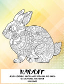 Adult Coloring Books with Flowers and Birds   50 Creatures and Animal   Easy Level   Rabbit