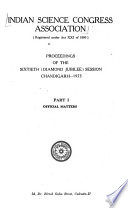 Proceedings of the Indian Science Congress