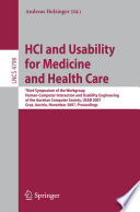 HCI and Usability for Medicine and Health Care Book