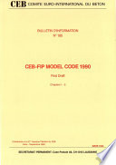Ceb Fip Model Code 1990 First Draft Chapters 1 5